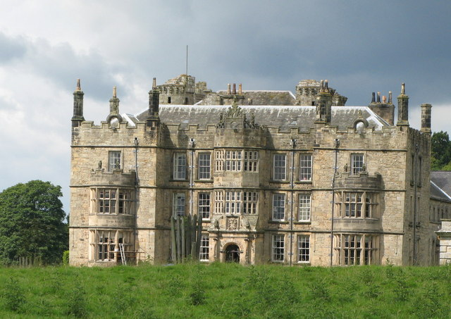 The southeast wing of Chipchase Castle