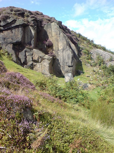 Crag by Coldstone Beck, Burley Moor