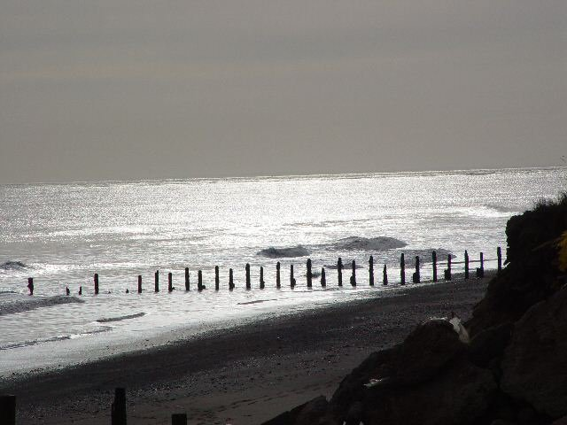 Groyne on Spurn Beach.