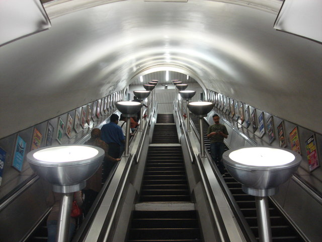 Escalator Uplighters at Tooting Bec Tube
