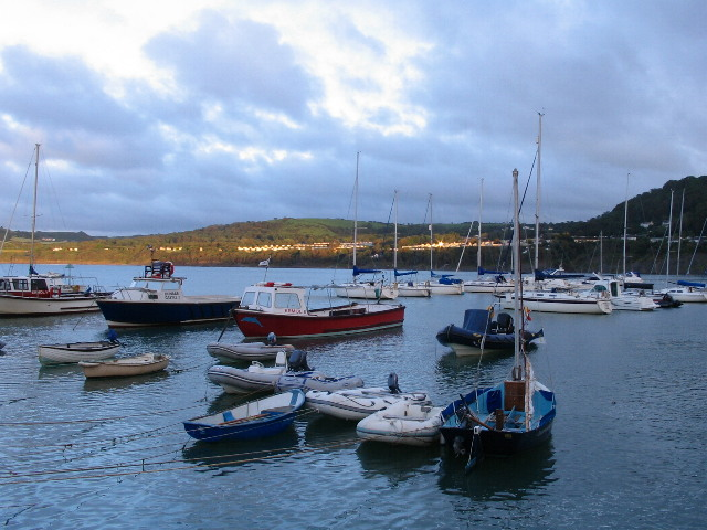 Evening at New Quay bay