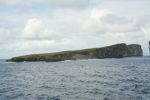 Hinger Stone and the South Nevi of Copinsay.