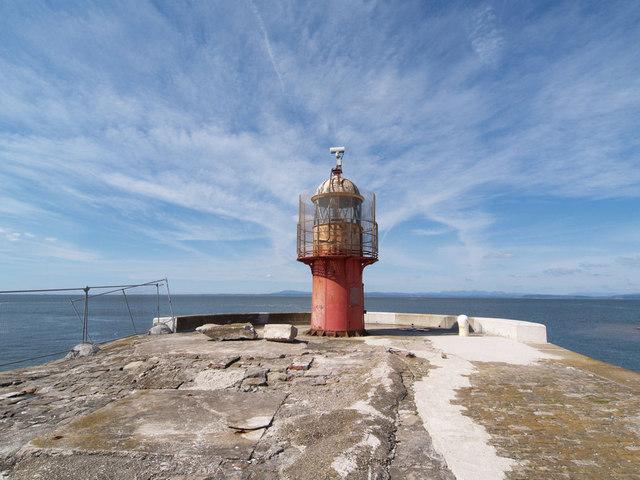 Heysham South pier lighthouse.
