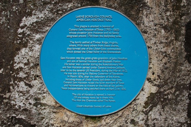 Houston family plaque, Ballyboley forest