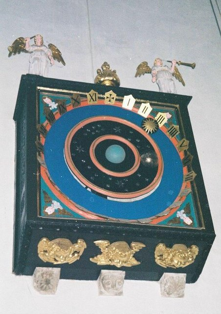 Wimborne Minster: the astronomical clock