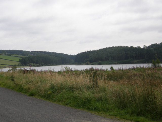 View across Seagahan Dam from Ballymacawley Road