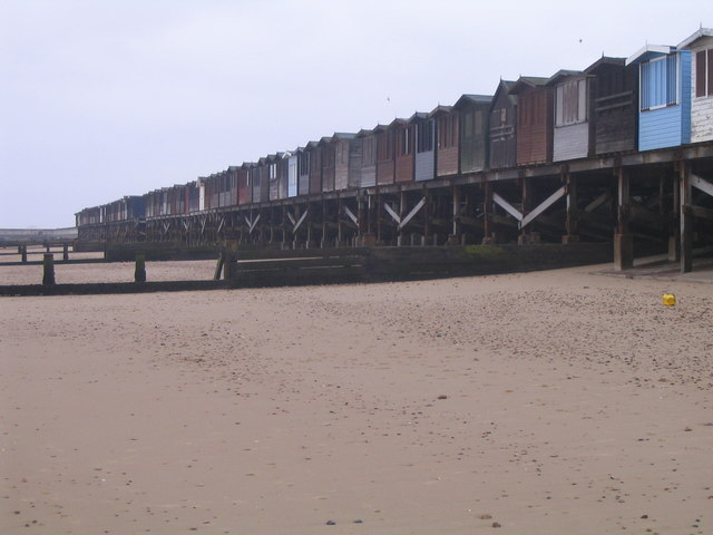 Beach Huts At Frinton On Sea