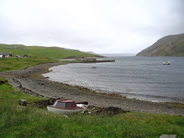 Pier at Skeo Head on Ronas Voe