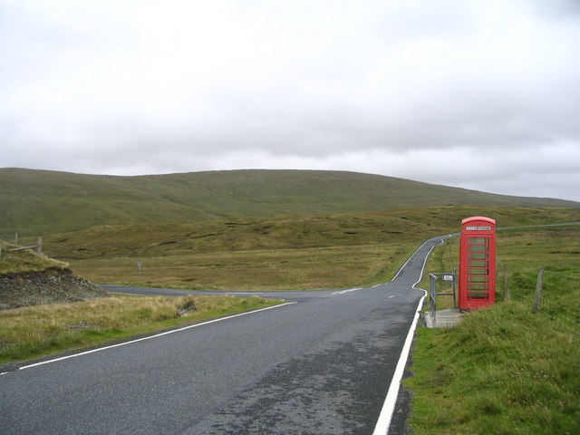 Telephone box at Ollaberry junction