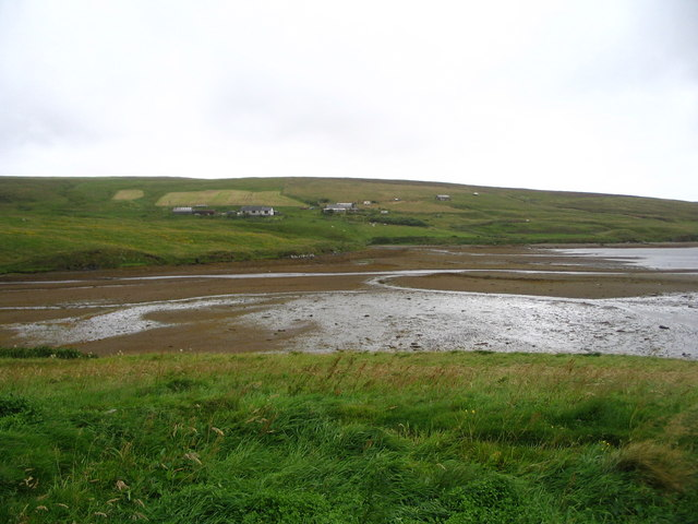 Mudflats at the head of Gluss Voe