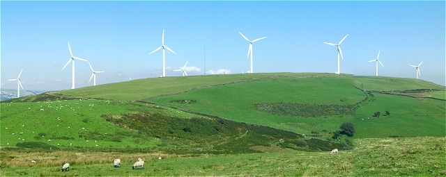 Mynydd Maendy Windfarm from the west