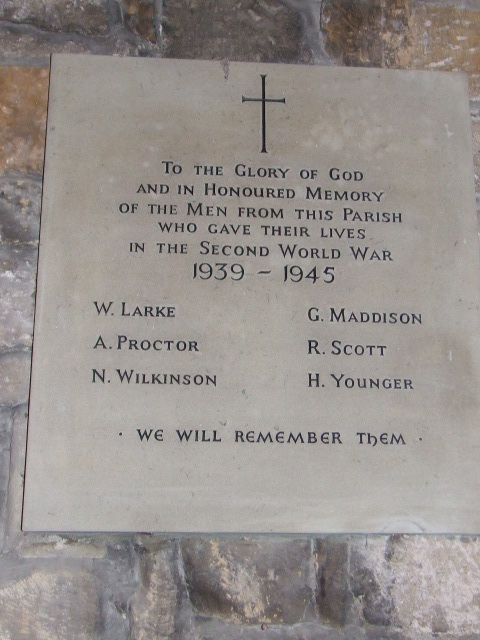 Memorial plaque to those who never returned 1939 - 1945