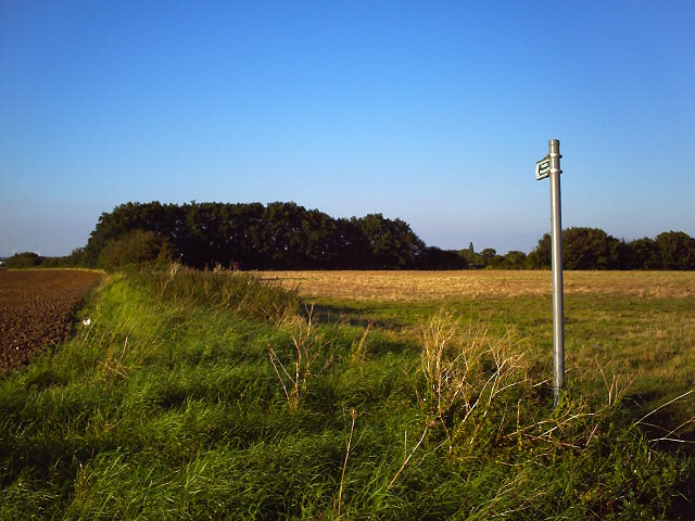 Footpath north from Biggin Lane