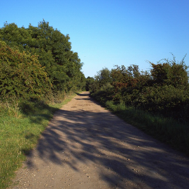Biggin Lane towards Ramsey