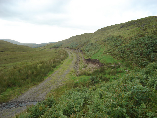 Footpath joins the track to Kilchrenan, north of Musdale