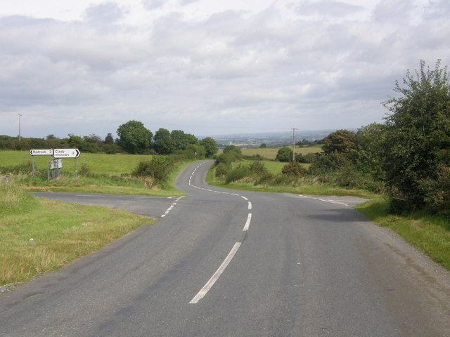 Crossroads on the Coolmillish Road (View towards Markethill)