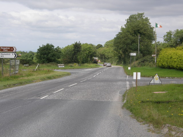 Crossroads on the Armagh/Newtownhamilton Road, looking towards Armagh