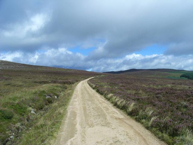 Landrover track across Balmoral Estate
