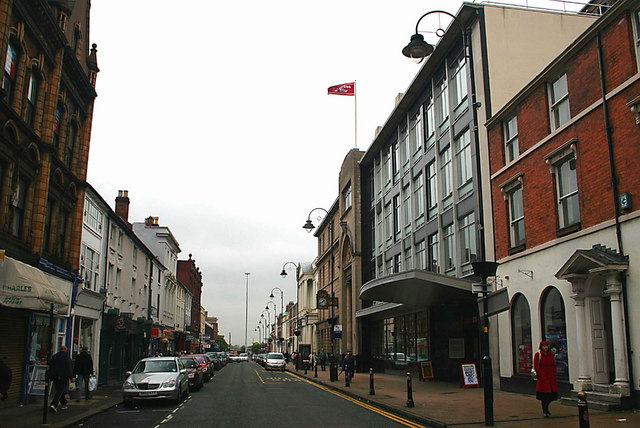 Queen St. looking east from Market St. , Wolverhampton