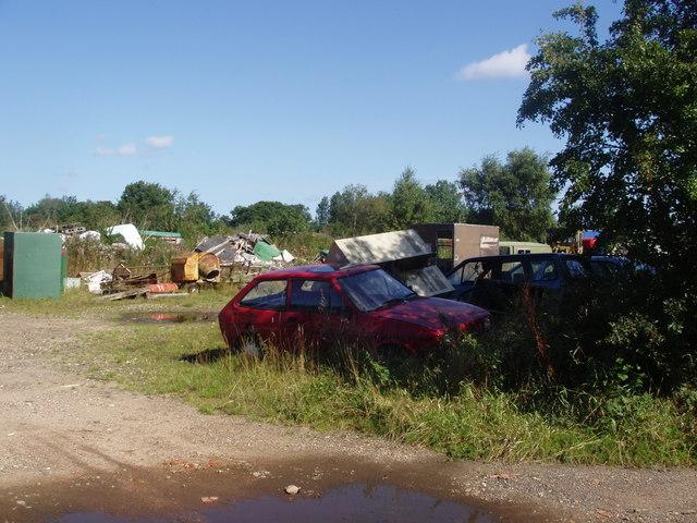Rural scrap metal yard