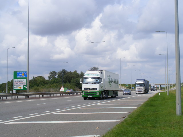 A1 near Alconbury Brook