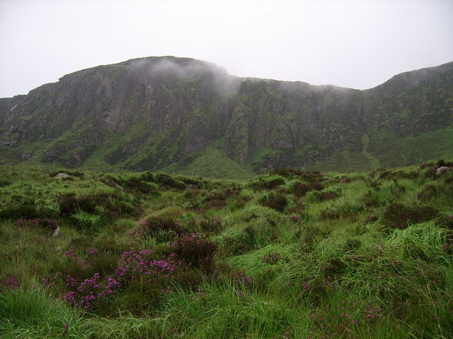 Looking SW towards the Great Gulley from the Windy Gap/Sandy Brae track
