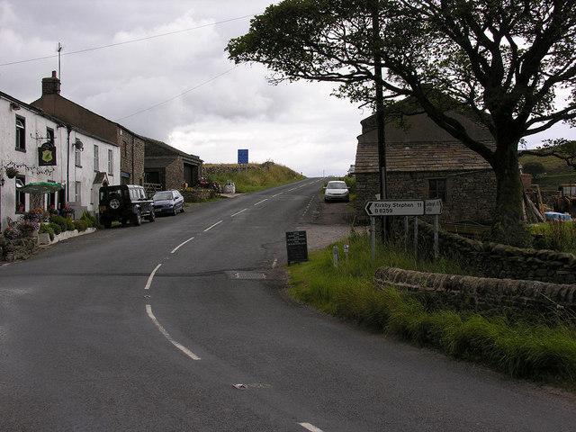 Moorcock Inn  road junction