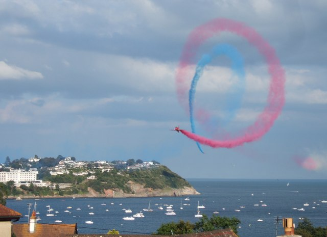 Red Arrows over Torbay