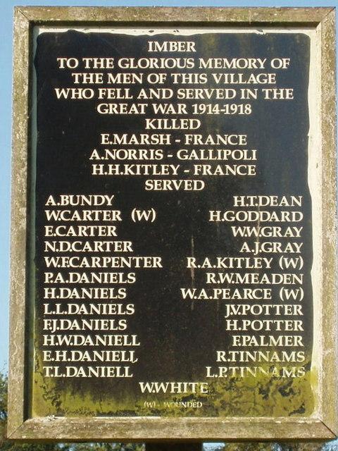 Imber war memorial