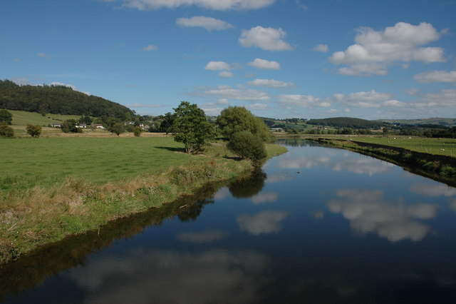 The River Severn near Aberhafesp