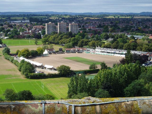 Worcestershire County Cricket Ground as seen from the Cathedral