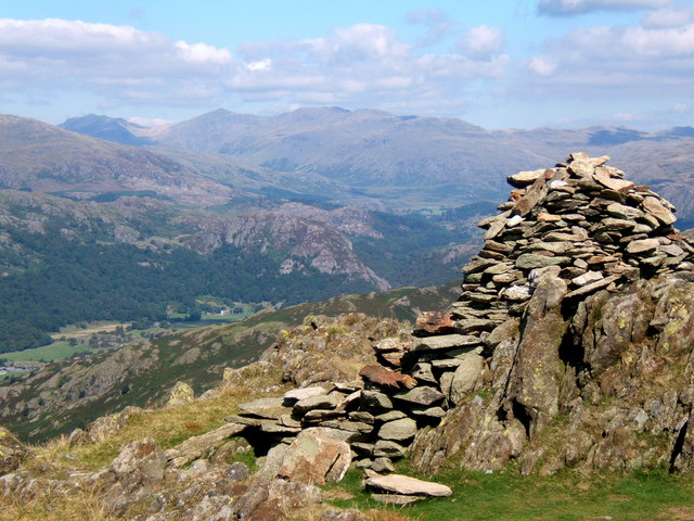Summit cairn of Stickle Pike