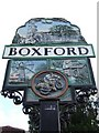 TL9640 : Boxford Village Sign by Keith Evans