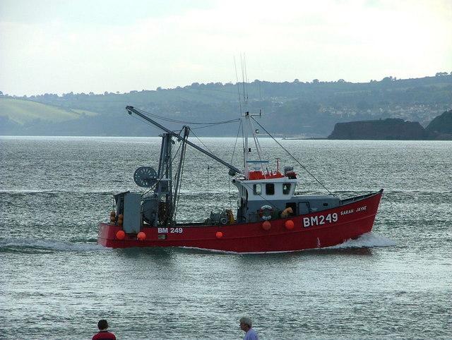 A fishing trawler returns to Exmouth