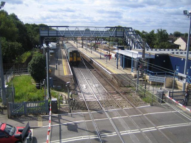 Cheshunt United Kingdom  City new picture : tl3602 cheshunt railway station near to cheshunt hertfordshire great ...