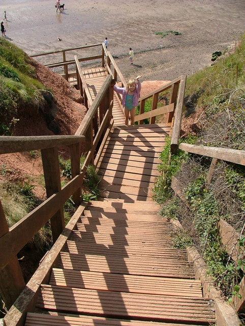 Rodney Point cliff steps