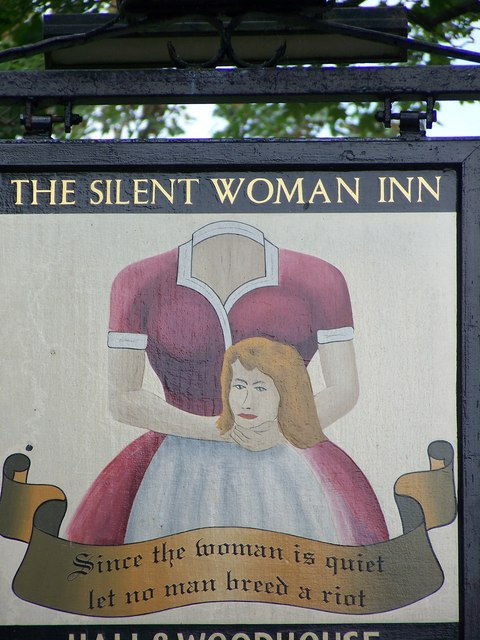 Sign for the Silent Woman Inn