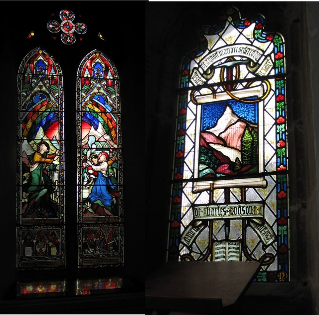 Charles Hudson memorial windows, Church of St James, Skillington