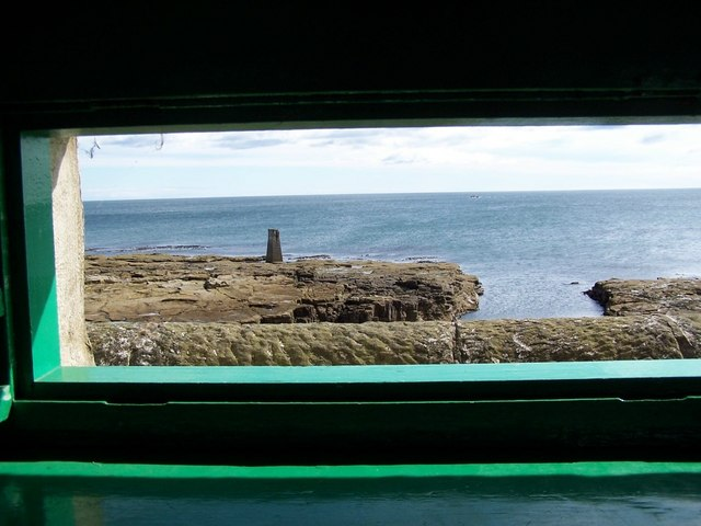 View of rocks from bird watching hide.
