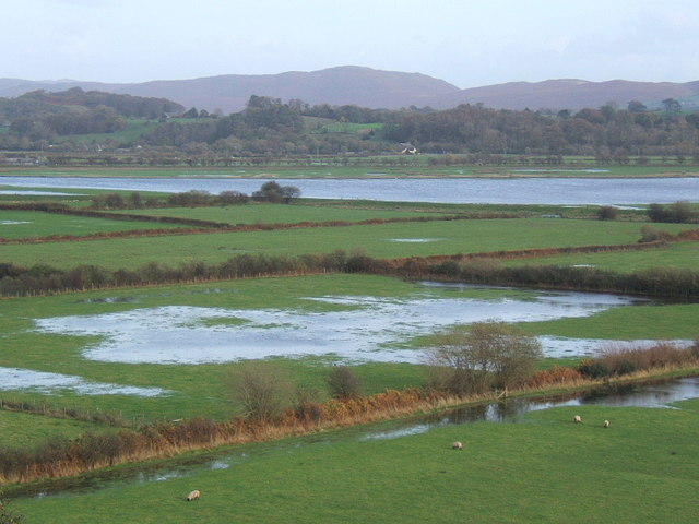 Flooded fields near the Duddon