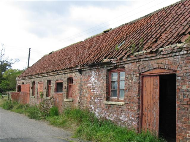 Derelict farm buildings, Thornton Manor farm.