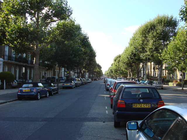 Southern end of Hamilton Terrace