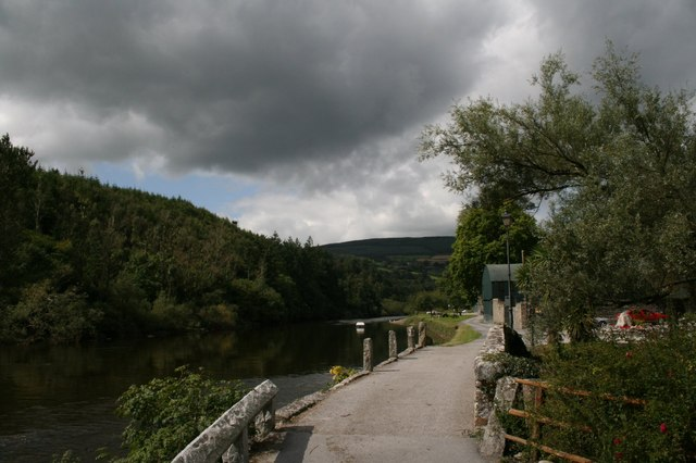 The Barrow river at Saint Mullins