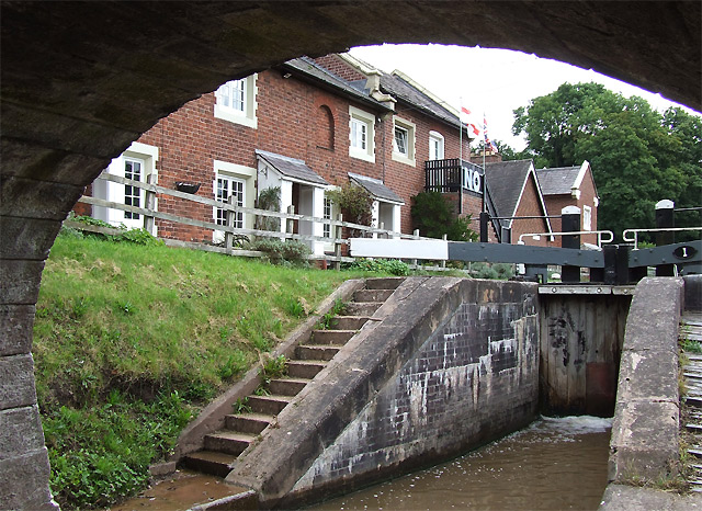 Tyrley Wharf Buildings and Top Lock, Shropshire Union Canal, Staffordshire