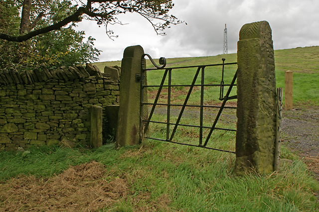 Old gate by Cross Land farm