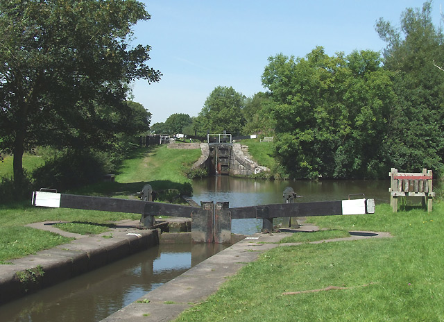Bosley Locks 10 and 11, Macclesfield Canal, Cheshire