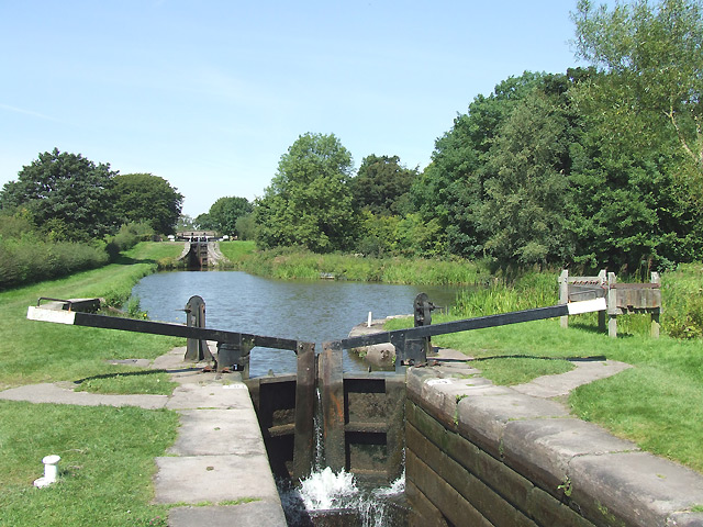 Bosley Locks 9 and 10, Macclesfield Canal, Cheshire
