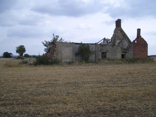 Ruined Farmhouse & Barn Beside Oundle Wood - II