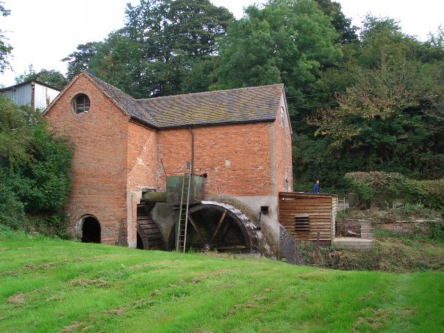 Water wheels at Offley Mill