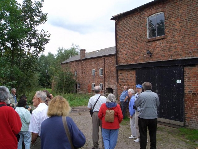 Visitors at Mickle Trafford Mill